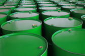 Industrial metal barrels — Stock Photo