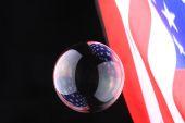 Sabun köpüğü ile Amerikan bayrağı — Stok fotoğraf