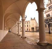 Colonnade at Castle Stallhof in Dresden — Stock Photo