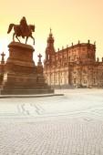 Monument to King John of Saxony — Stock Photo