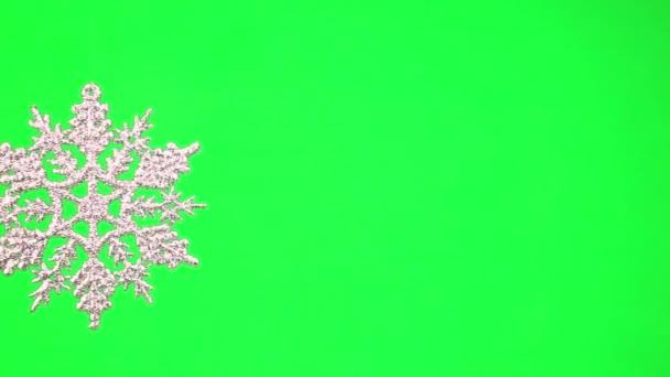Rotación de copo de nieve de Navidad — Vídeo de stock
