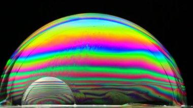 Colorful soap bubble — Stock Video