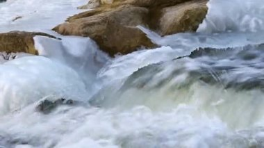 Ice close up of falls — Stock Video