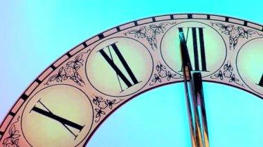 Close-up orologio d'epoca — Video Stock