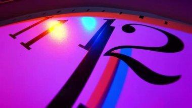 Wall clock close-up — Stock Video
