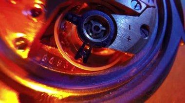 Zegarek Vintage maszyn makro detal — Wideo stockowe