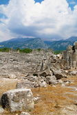 The ruins of the ancient Roman theater — Stock Photo