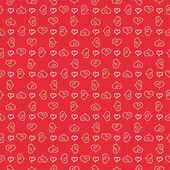 Seamless stylish pattern with hearts. — Cтоковый вектор