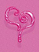 Heart greeting card template — Vetor de Stock