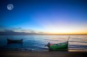 Boat in lagoon — Stock Photo