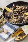 Czarne risotto — Zdjęcie stockowe