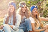 Women smiling — Stock Photo