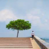 Koşucu kız - çalışan merdiven, kadın fitness atlet — Stok fotoğraf