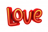 Älskar Text, 3d Illustration av hög upplösning Rendering — Stockfoto