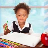 Cute African preschooler — Stock fotografie