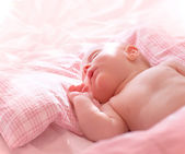 Cute little sleeping baby — Stock Photo