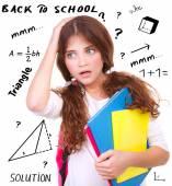 Difficult exam of geometry — Stockfoto