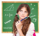 Thinking about mathematics task — Stock Photo