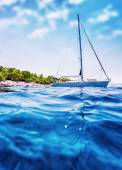 Luxury sailboat in the sea — Stock Photo