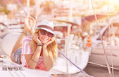 Relaxation on sailboat — Foto de Stock