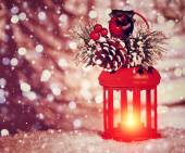 Beautiful Christmas lantern — Stock Photo