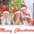 Happy family at home on Christmas — Stock Photo #60692957