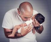 Happy father with a baby — Stock Photo