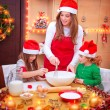 Happy family cooking for Christmas — Stock Photo #61826523