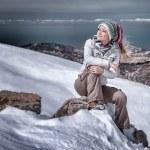 Enjoying winter mountains — Stockfoto #61827189