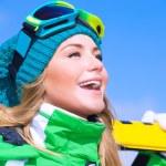 Gelukkig skiër meisje — Stockfoto #61827241