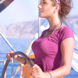 Beautiful woman sailing — Stock Photo #61827299