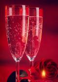 Romantic Valentine day dinner — Stock Photo