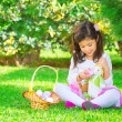 Happy girl in Easter holiday — Stock Photo #69943333