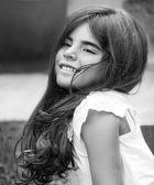 Cute little girl outdoors — Stock Photo