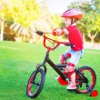 Little boy on bicycle — Stock Photo #73886155