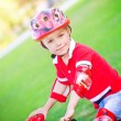 Little boy on bicycle — Stock Photo #73885931