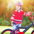 Little boy with bicycle — Stock Photo #74475367