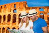 Romantic vacation in Rome — Stock Photo