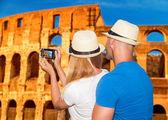 Honeymoon vacation in Rome — Stock Photo