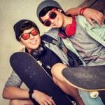 Two happy teen boys — Stock Photo #77018861