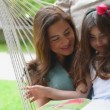 Happy family outdoors. Full HD Video — Stock Video #77095315