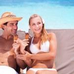 Happy couple on the beach — Stock Photo #78167544