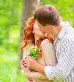 Loving couple outdoors — Stock Photo