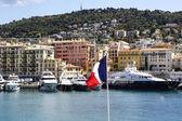 Port lympia i nice i frankrike — Stockfoto