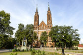 Neo-Gothic style Church in Sadowne — Stock Photo