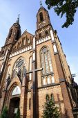 Neo-Gothic style Church in Sadowne in Poland — Stock Photo
