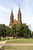 Neo-Gothic style Church in Sadowne, Poland — Stock Photo