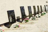 Commemorative Plaques, Pawiak Prison Museum — Stock Photo