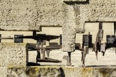 The detail of Fence of Pawiak Prison Museum — Stock Photo