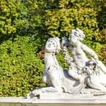 Garden Sculptures in the Wilanow park in Warsaw — Stock Photo #55159187